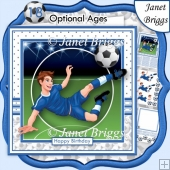 FOOTBALL STRIKER 7.5 Soccer Decoupage & Insert Mini Kit
