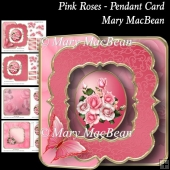 Pink Roses - Pendant Card