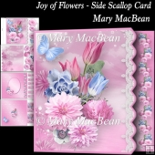 Joy of Flowers - Side Scallop Card
