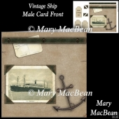 Vintage Ship Male Card Front