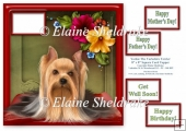 Yorkie The Yorkshire Terrier - Square Card Topper & Greetings