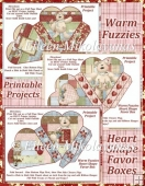 Warm Fuzzies Heart Shape Favor Boxes