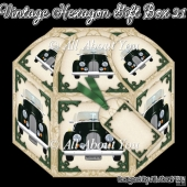 Vintage Car Hexagon Gift Box 21
