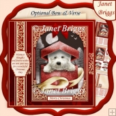 WESTIE CHRISTMAS GIFT 7.5 Quick Layer Card or Decoupage Kit
