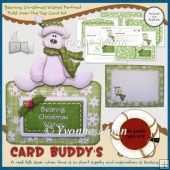 Bearing Christmas Wishes Portrait Fold Over The Top Card Kit