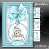 Baby Boy Stocking Bauble Mini Kit