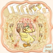 Easter Chick & Easter Egg Double Pop Out Decoupage Card Kit