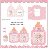 BABY GIRL BOTTLE CARD