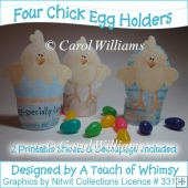 A4 - Four Chick Egg Holders