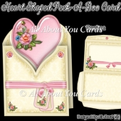 Cream and Pink Heart Shaped Peek-A-Boo Card