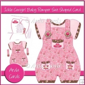 Ickle Cowgirl Baby Romper Suit Shaped Card
