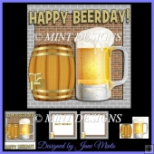 HAPPY BEER DAY! CARD KIT - BEER, BARREL, INSERTS