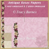 Antique Roses Backing Papers