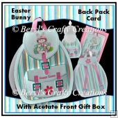 Easter Bunny - 3D Back Pack Card
