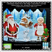 Christmas Santa - Mrs Santa And Naughty Elf - Concertina