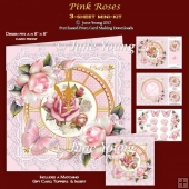 Pink Roses - 3-Sheet Mini-Kit
