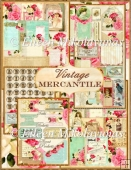 Vintage Mercantile MiniBook/Journal Kit with 16 Pages + Elements