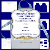 Designer Apron Card Template With Insert - CU/PU