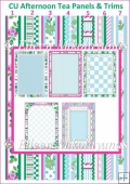 CU Afternoon Tea Cardmaking Set of Panels and Trims