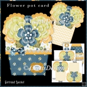 Flower Pot Stand Alone Card Kit 2