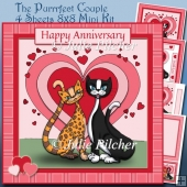 The Purrfect Couple ~ Mini Card Kit with Decoupage, insert & tag