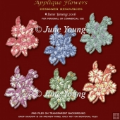 Applique Effect Flowers