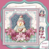 Frosty Snowman & Poinsettia Christmas 8x8 Kit