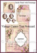 Vintage Cameo Tent Note Card with Aperture and Pyramage