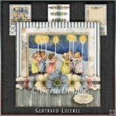 Vintage Christmas Card Kit Little Kids Lighting 1042