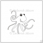 Ollie the Octopus Digital Stamp/Line Art