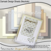Damask Design Sheets (Neutrals)