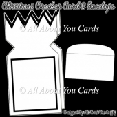 Christmas Cracker Card and Envelope Template