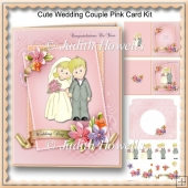 Cute Wedding Couple Pink Card Kit