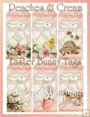 Peaches and Cream Easter Bunny Tag Set