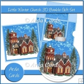 Little Winter Church 3D Bauble Gift Set