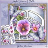 Perfect Pansies & Trellis Mini Kit