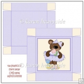 Easter Girly Bear 4 Square Box