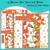 A Flower For You Card Front with Decoupage