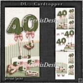 Vintage DL 40th Birthday Topper Cardkit 1294