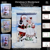Christmas In Wonderland 3D Concertina Scenic Box Card Kit