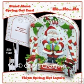 Ho Ho Ho Spring Out Card