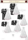 Wedding Dress and Tuxedo Decoupage