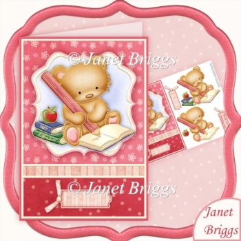 Thank You Teacher Bear Card & Decoupage Sheet