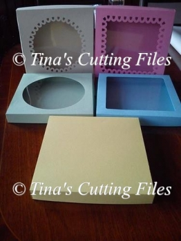 Card /gift Box with choice 5 lids pre-sized to 8 x 8 x 1