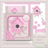 Birdhouse 2 Shadow Box Card
