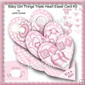 Baby Girl Things Triple Easel Card Kit