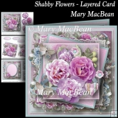 Shabby Flowers Layered Card
