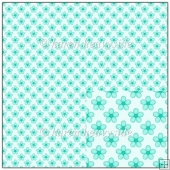 Aqua Foral Backing Paper