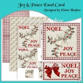 Joy & Peace Easel Card with Pyramage