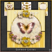 Vintage Butterflies and Flowers Card Kit 1053
